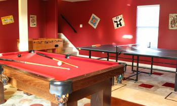 Our Gameroom has ping-pong, pool, foosball, and board games!