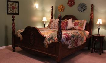 The Loft is cozy and warm, offering its guests a quiet place to relax.